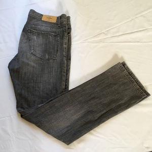 Zara Jeans Mens Charcoal Denim Fly Straight Sz 34